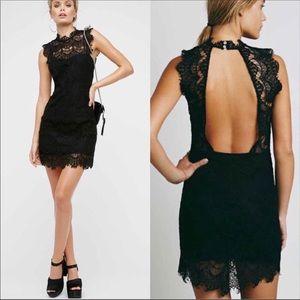 Free People Black Daydream Lace Dress